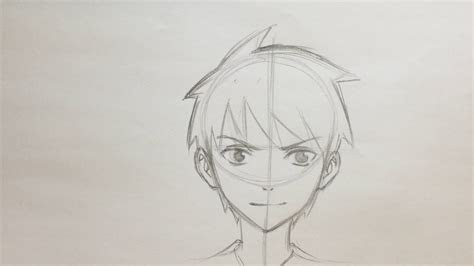 draw anime boy face  timelapse youtube