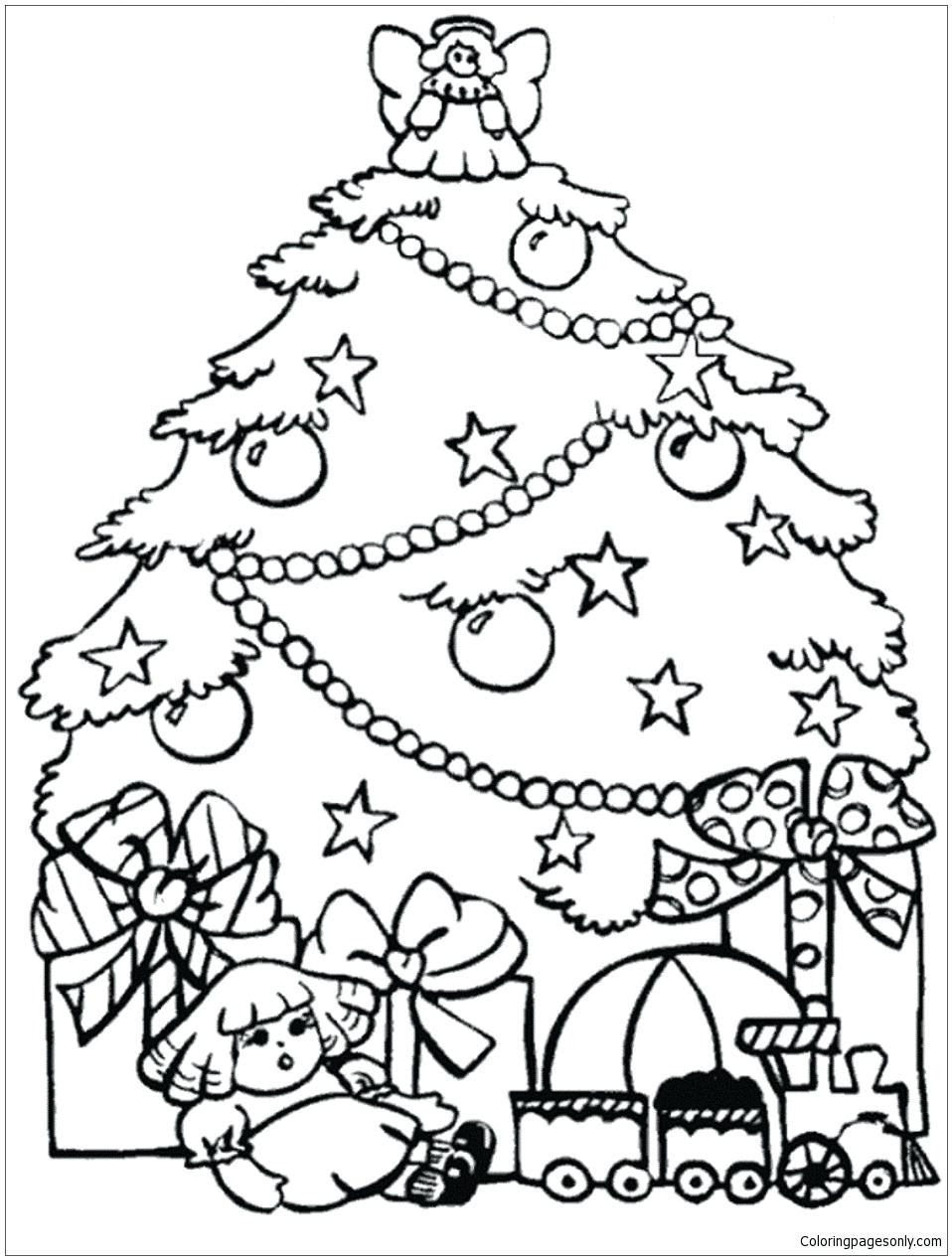 Christmas Tree Coloring Pages Online at GetColorings.com ...