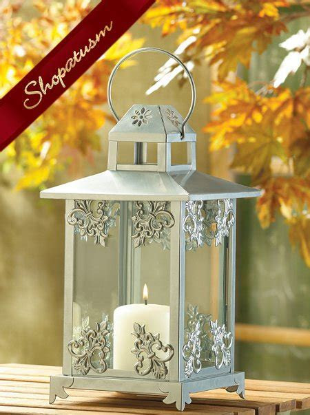 12 Wholesale Lanterns, Ornate Wedding Centerpieces, Silver