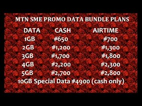 ������Cheap MTN SME Data Bundle Plan  Promo������