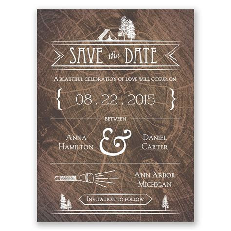 Making Camp Save the Date Card   Invitations By Dawn