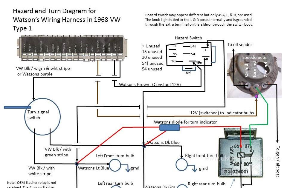1972 Vw Beetle Turn Signal Relay Wiring Diagram
