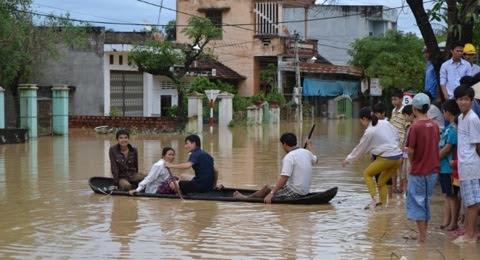Nam Trung Bộ, lũ lụt, xả lũ