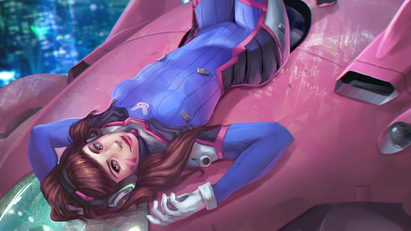Dva Overwatch Amazing Art Hd Games 4k Wallpapers Images