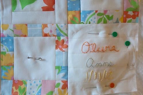 Dream On quilt detail