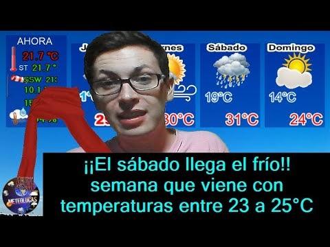 Pronóstico del tiempo jueves 26 de marzo anticipando una próxima semana fría