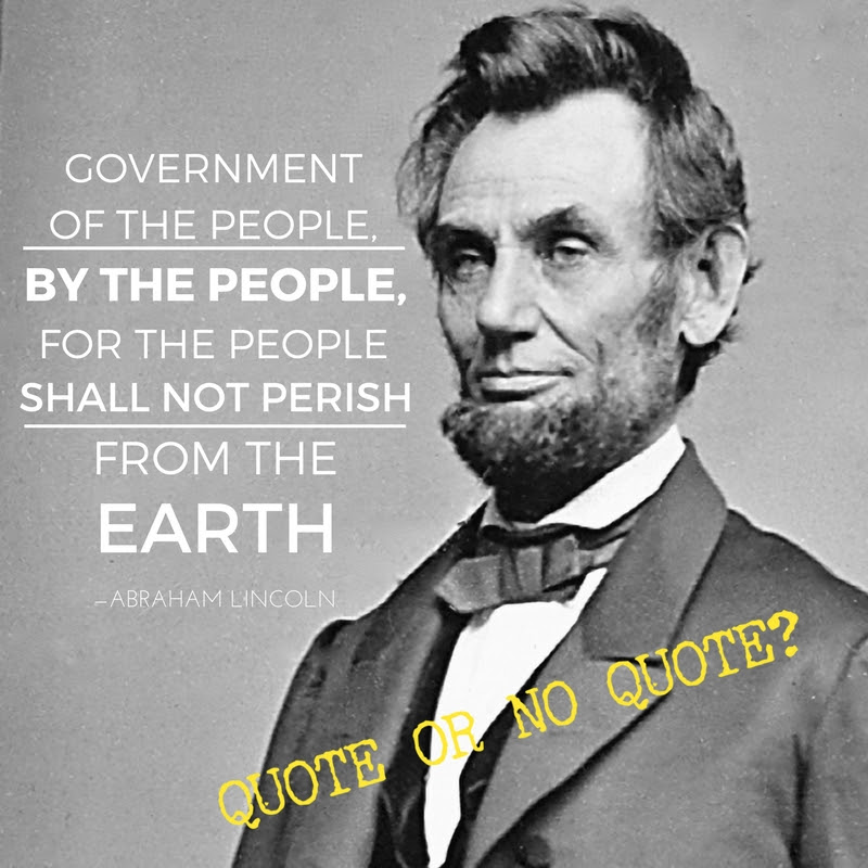 Lincoln Government Of The People By The People And For The