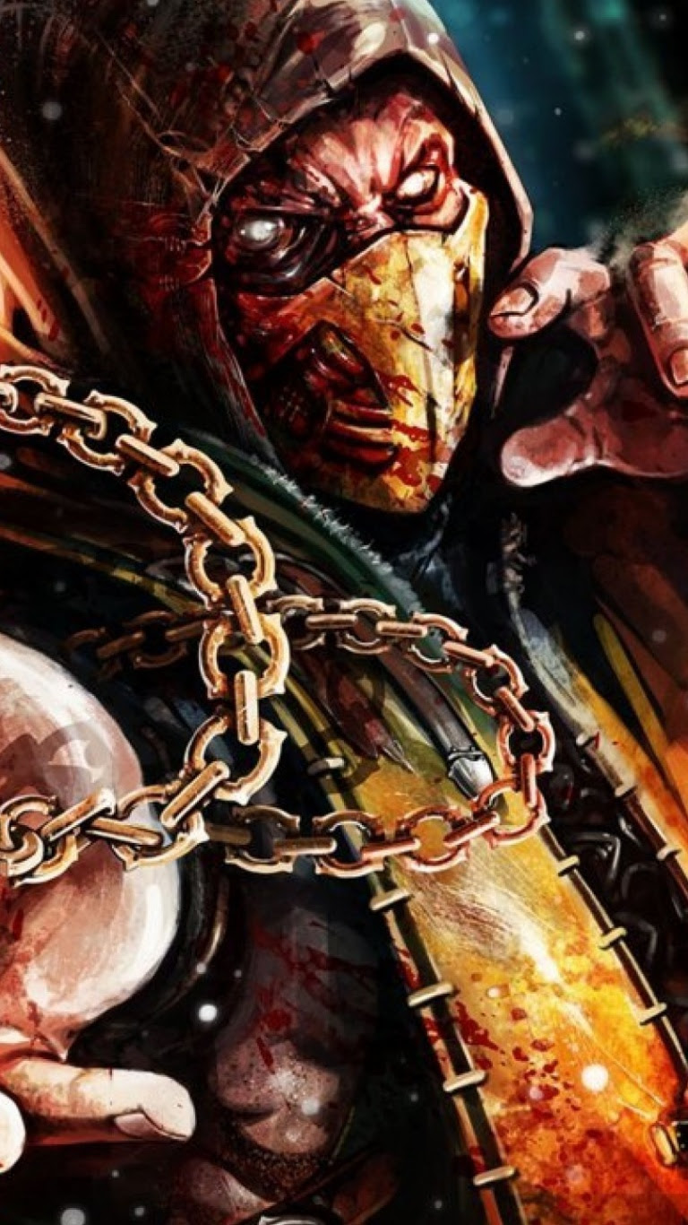 768x1366 Scorpion Mortal Kombat X Surface Rt Wallpaper
