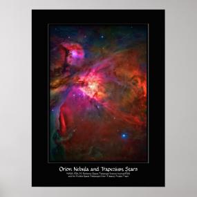 Orion Nebula and Trapezium Stars Posters