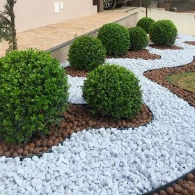 Beautiful Small Front Garden Ideas With Stones Pics