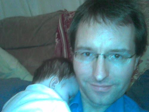 Asleep on Daddy