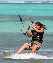Natasha kiting Grand Cayman