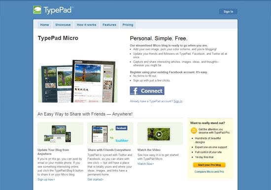 typepad free blog platform