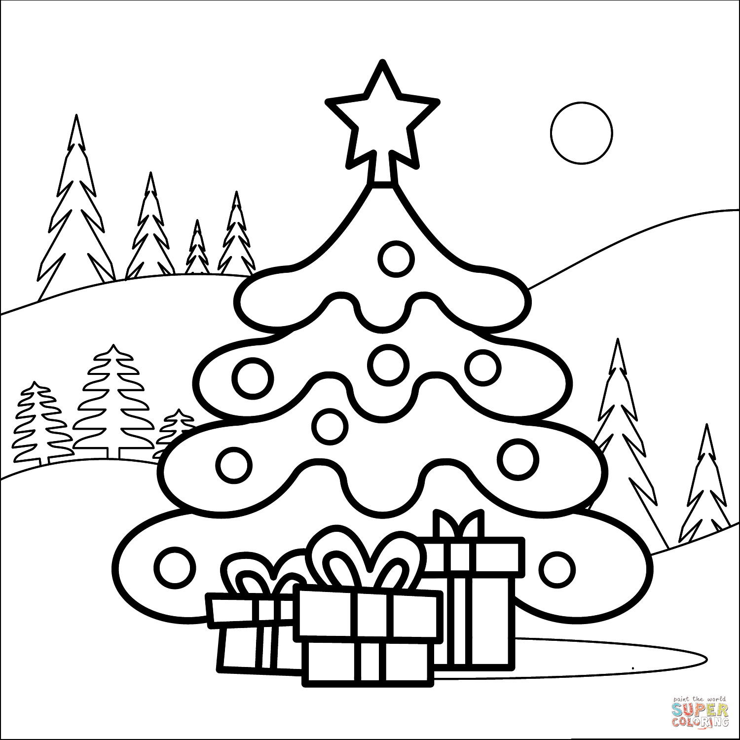Christmas Tree coloring page | Free Printable Coloring Pages