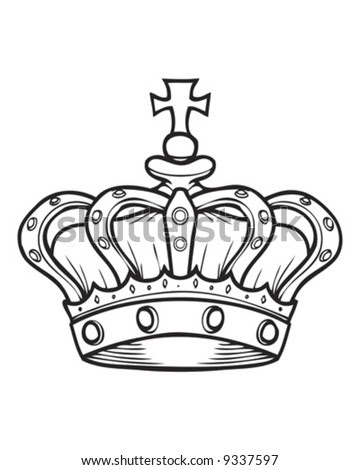 Crown Tattoos on Crown Outline Stock Vector 9337597   Shutterstock