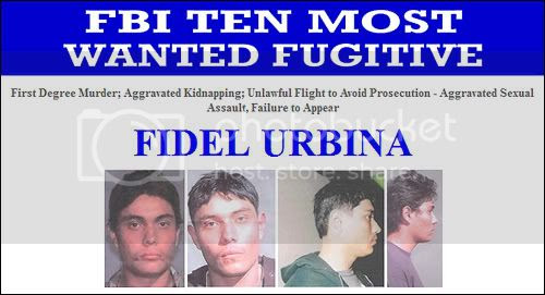 Fidel Urbina on FBI's Top 10 Most Wanted