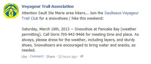 ontario snowshoe trails