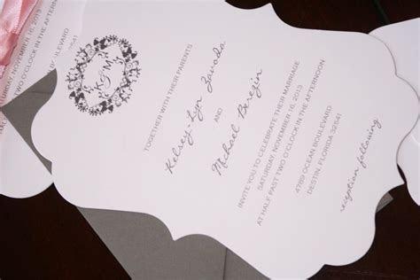 Die Cut Wedding Invitations   Too Chic & Little Shab