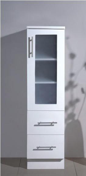 China Practical Free Standing White Color MDF Bathroom Storage Cabinet BLV400  China