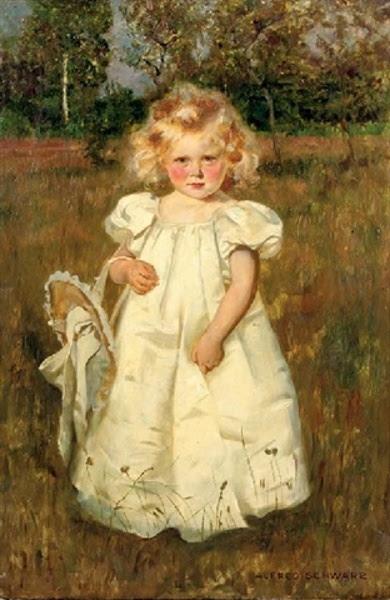 A Pretty White Dress - Alfred Schwarz