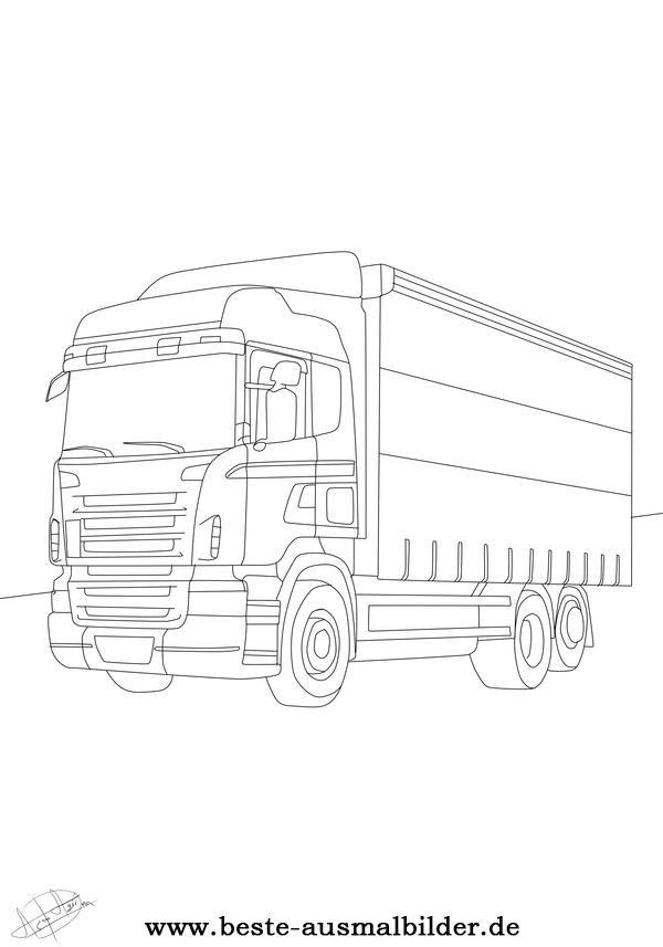 Lkw Ausmalbilder Malvorlagen Von Autos Und Lkw S Kostenlos