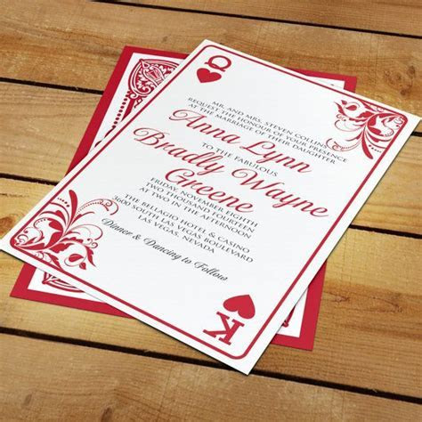 Anna Las Vegas Playing Card Wedding Invitation for Casino