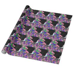 Freckles in Butterflies II - Tuxedo Cat Wrapping Paper