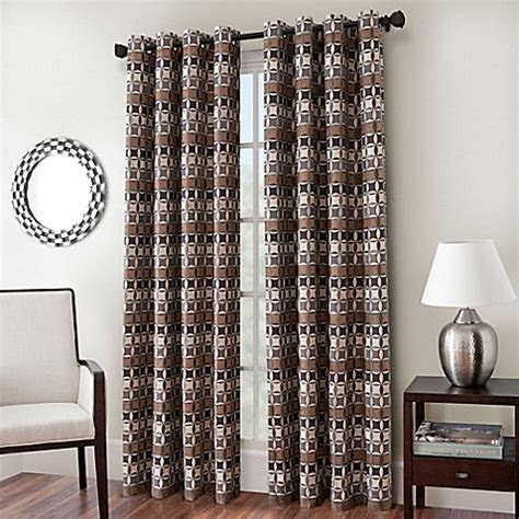 Cadence Chenille Jacquard Window Curtain Panel   Bed Bath