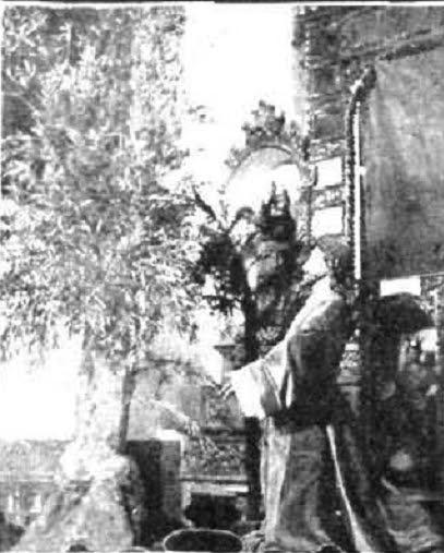 1912. La Oración en el huerto. Paso destruido en 1936. Foto Rodriguez