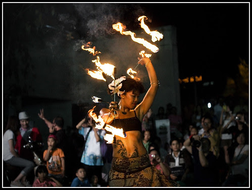 Fire Dancer in Phuket Town
