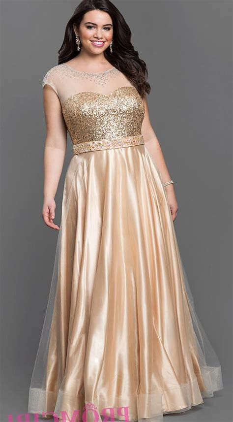 Plus size gold prom dresses   PlusLook.eu Collection