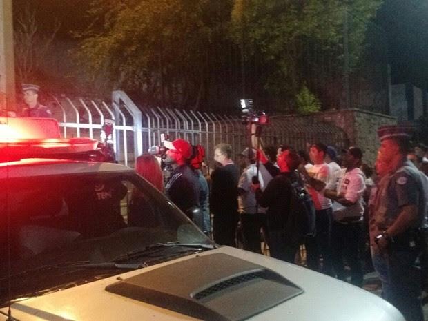 Anderson deixou o Fórum de São Roque logo após o fim do julgamento em um camburão (Foto: Emilio Botta/G1)