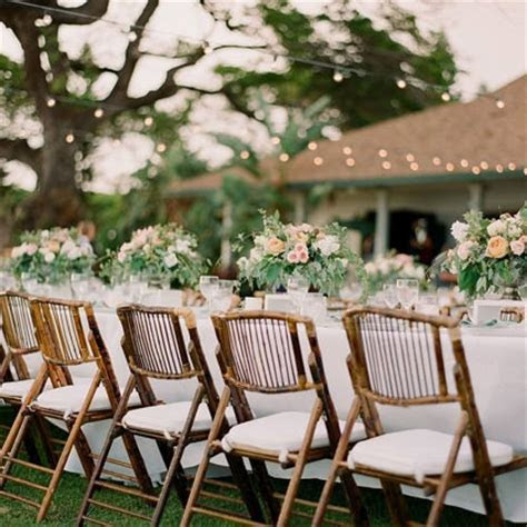 Bamboo Folding Chair ? Liberty Event Rentals