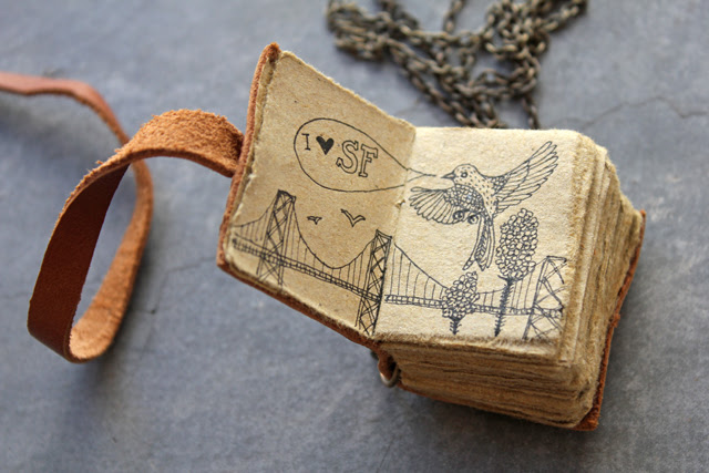 Tiny journal necklace