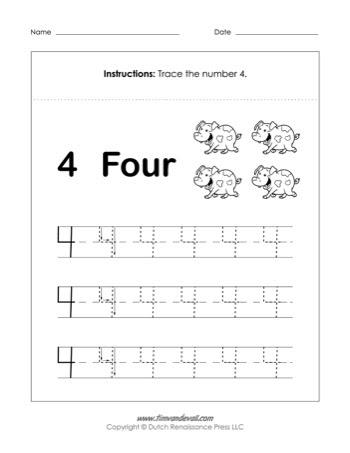 number 4 worksheet 350
