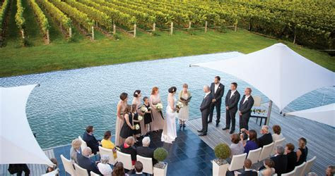 Wedding ceremony at Elephant Hill Winery Hawkes Bay