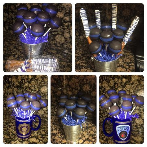 Thin blue line cake pops   Cake pops for every occasion