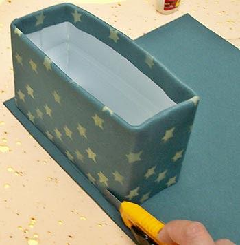 Posicione a caixa e corte o fundo