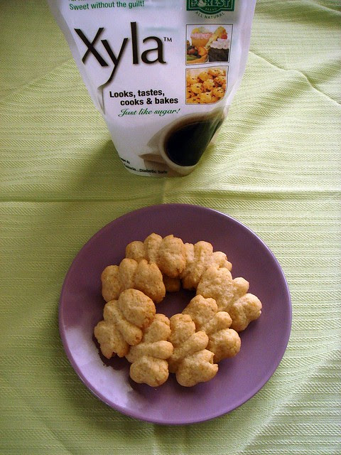 lemon spritz cookies with xylitol