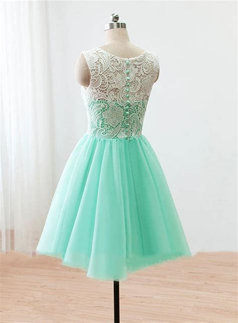 Cute Light Green Short Lace Homecoming Dress New Arrival