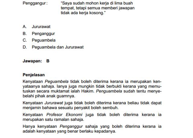 Contoh Soalan Peperiksaan Online Gred N29 Terengganu Y