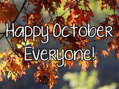 ? Top 14 October images, greetings and pictures for