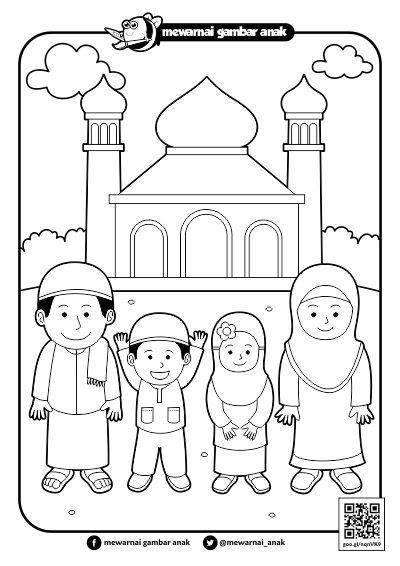 Trend Mewarnai Tema Islami, Gambar Lucu Paling Baru!