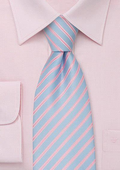 trendy mens necktie  electric blue  pink bows