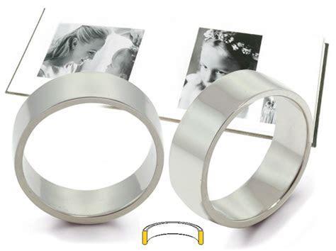 Platinum Flat Comfort Fit Wedding Rings Platinum Flat