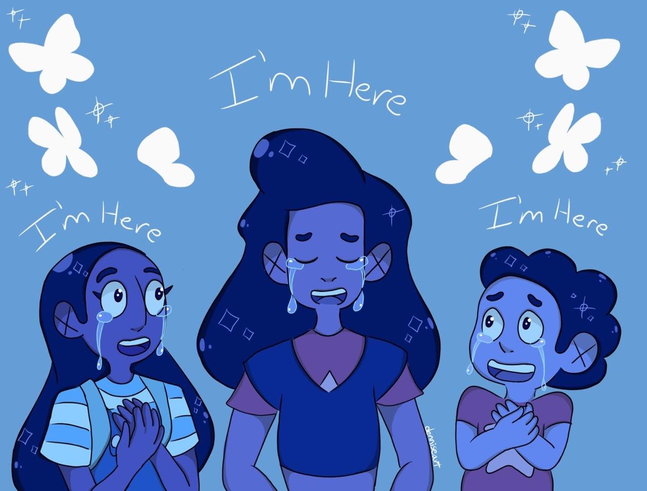 Esto yo lo dibuje hace tiempo pero es mi episodio favorito de Steven Universe 💜⭐️💙