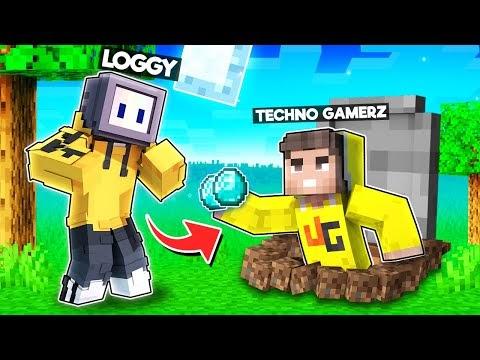 I TRANSFORMED INTO TECHNO GAMERZ TO TROLL LOGGY   MINECRAFT