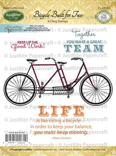 Bicycle Built for Two Cling Stamps