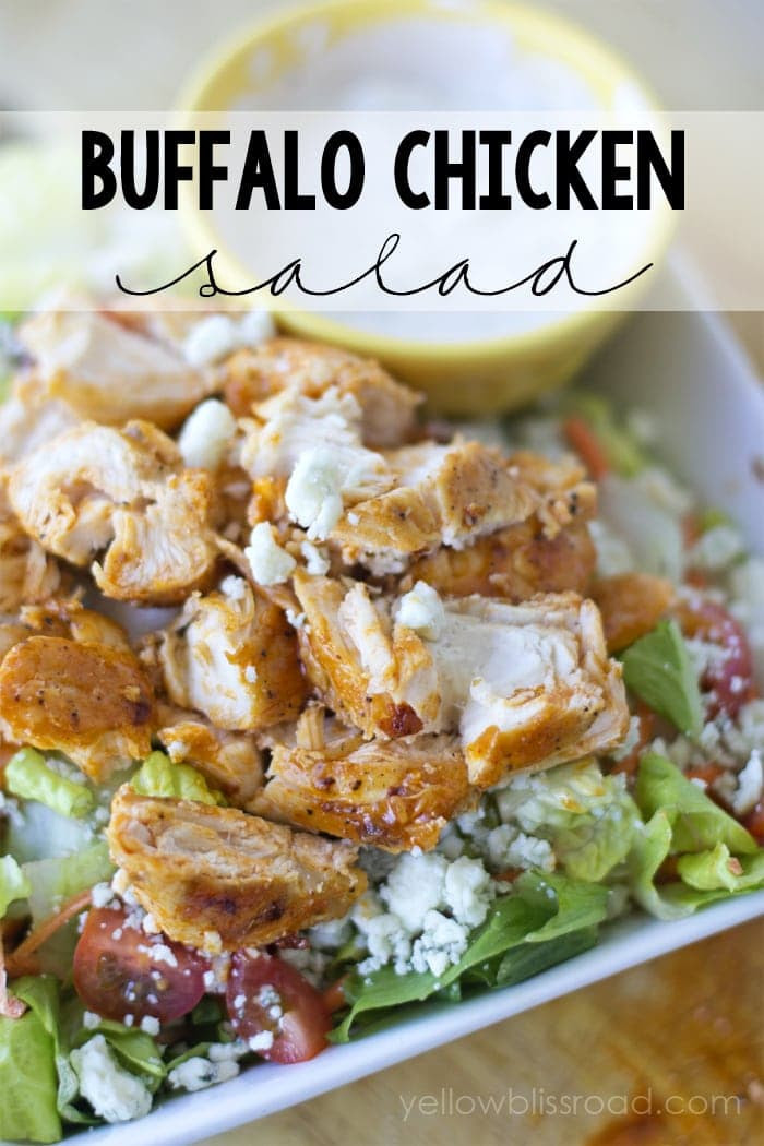 Spicy Buffalo Chicken Salad - YUMMY!! { lilluna.com } #salad
