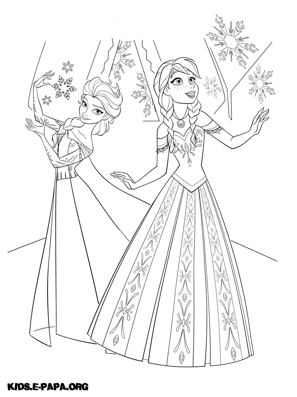 Ausmalbilder Anna Und Elsa - Ausmalbilder Coloring Pages